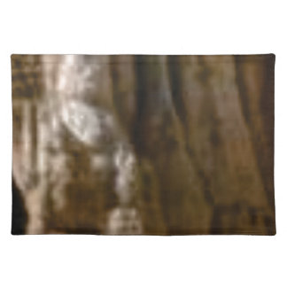 carved muscles in rock placemat