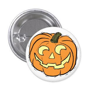 Carved Pumpkin Face 1 Inch Round Button