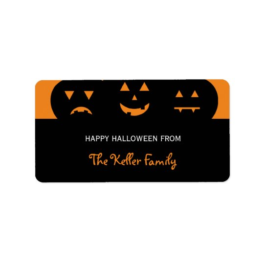 Carved Pumpkins Halloween Gift Labels