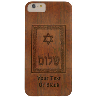 Carved Wood Shalom Barely There iPhone 6 Plus Case