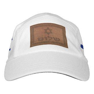 Carved Wood Shalom Headsweats Hat
