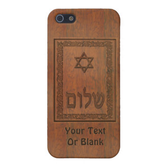 Carved Wood Shalom iPhone 5/5S Cases