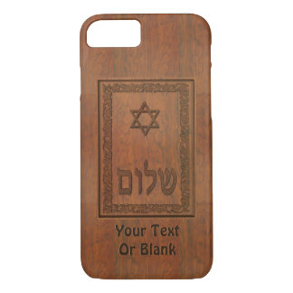 Carved Wood Shalom iPhone 7 Case