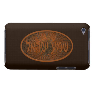 Carved Wood Shema Yisrael Case-Mate iPod Touch Case