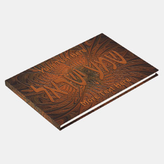 Carved Wood Shema Yisrael Guest Book