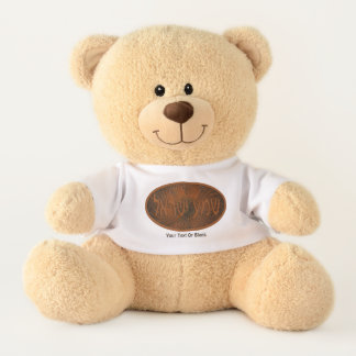 Carved Wood Shema Yisrael Teddy Bear