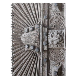 Carved Wooden Door Look Notebooks
