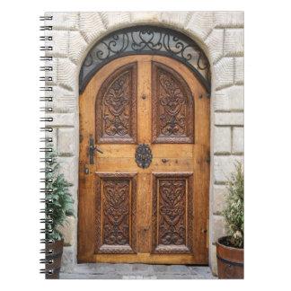 Carved Wooden Door Notebook