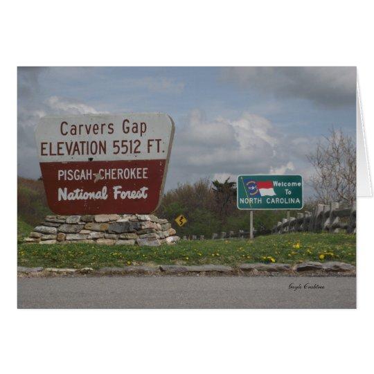 Carvers Gap Pisgah-Cherokee National Forest TN NC Card