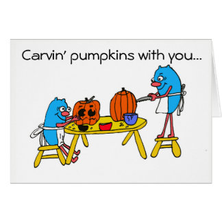 Carvin' Pumpkins with you:  Autism Charity Card