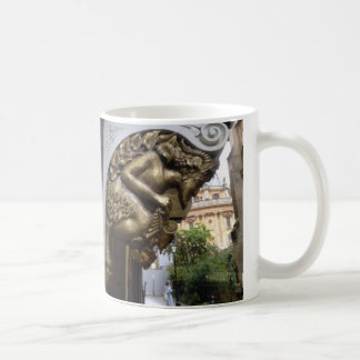 Carving of a faun, Oxford Coffee Mug