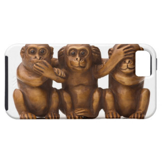 Carving of three wooden monkeys iPhone 5 case