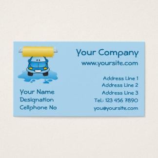 Carwash cartoon business card
