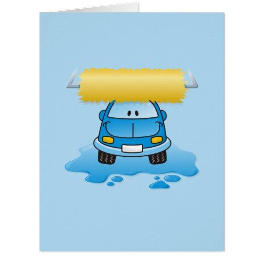 Carwash cartoon card