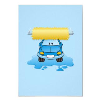 Carwash cartoon 3.5x5 paper invitation card
