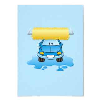 Carwash cartoon 4.5x6.25 paper invitation card