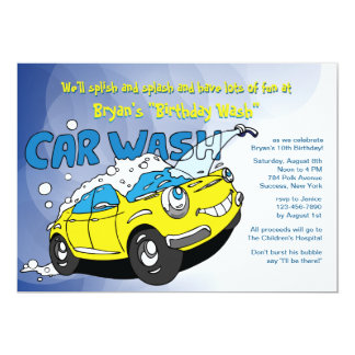 Carwash Party Invitation