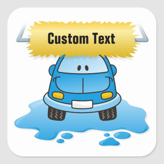 Carwash Square Sticker