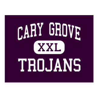 Cary Grove - Trojans - High School - Cary Illinois Postcard