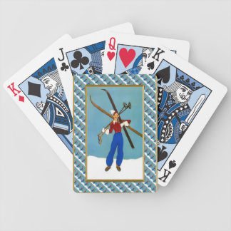 Carying the skis bicycle playing cards