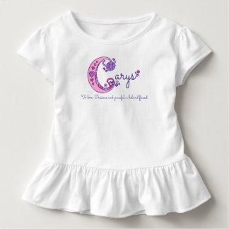 Carys girls C name meaning monogram shirt