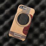 Cas acoustique de l'iPhone 6 de guitare de ficelle Coque iPhone 6 Tough