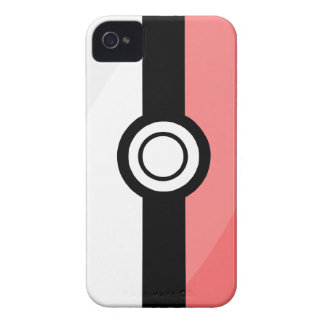 cas Barely-there d'iPhone4/4S - rouge et blanc Coques iPhone 4 Case-Mate