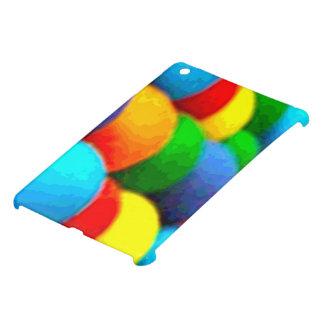 Cas brillant de finition d'iPad d'art d'arc-en-cie Étuis iPad Mini
