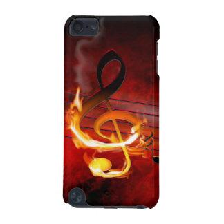 Cas chaud du contact 5G d'iPod de notes de musique Coque iPod Touch 5G