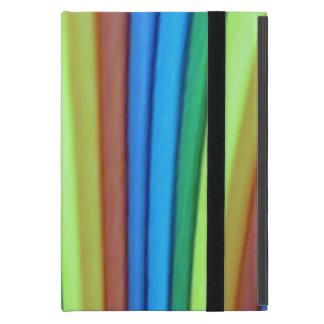 Cas d iPad d art d arc-en-ciel mini avec Kickstand Coques iPad Mini
