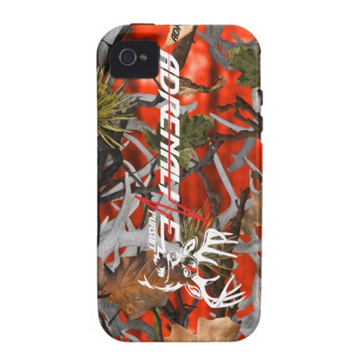 Cas de cerfs communs de flamme de camouflage de po étui iPhone 4