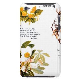 cas de contact d'iPod comportant des fleurs de jou