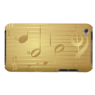 Cas de contact d'iPod de notes de musique d'or Coque iPod Touch