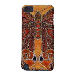 cas de contact d'iPod de papillon d'art déco (pein