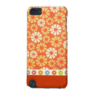Cas de contact d'iPod de spirales d'orange Coque iPod Touch 5G