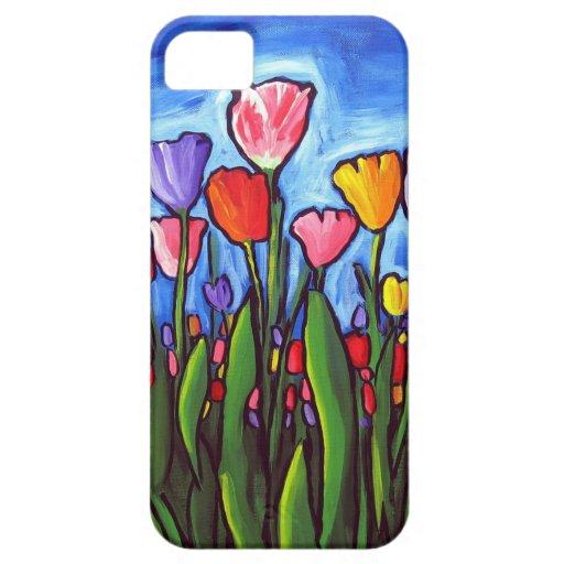 Cas de l'art populaire iPhone5 de tulipes Coques Case-Mate iPhone 5