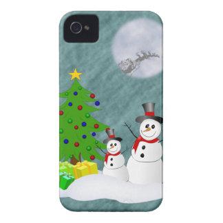 Cas de l'iPhone 4 de bonhommes de neige à peine là Coques iPhone 4