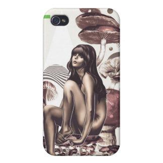 Cas de l'iPhone 4 de fille de champignon iPhone 4 Case