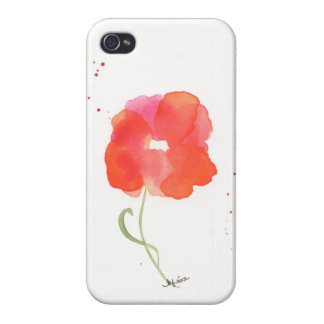 Cas de l'iPhone 4 de fleur d'aquarelle Coque iPhone 4