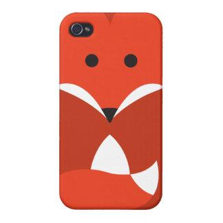 Cas de l'iPhone 4 de Fox rouge Étuis iPhone 4