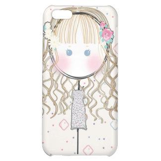 Cas de l'iPhone 4 de poupée de fleur
