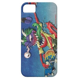Cas de l'iphone 5/5s de monstre de planche à roule iPhone 5 case
