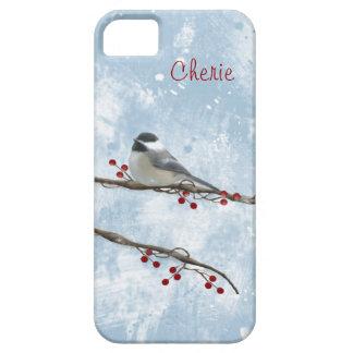 Cas de l'iPhone 5 de Chickadee d'hiver Coques Case-Mate iPhone 5