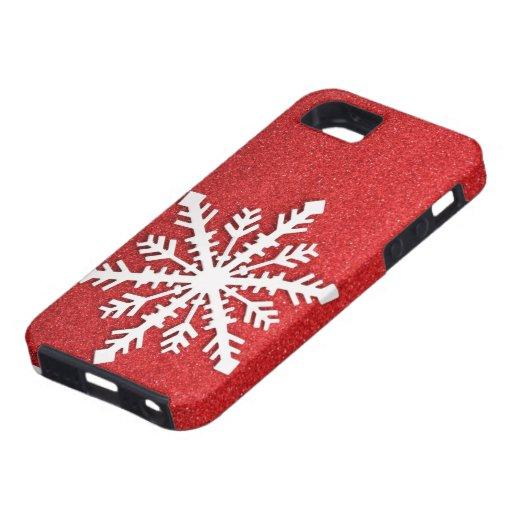 Cas de l'iphone 5 de flocon de neige de vacances
