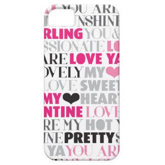 Cas de l'iphone 5 de motif d'amour de Valentine Coque iPhone 5 Case-Mate