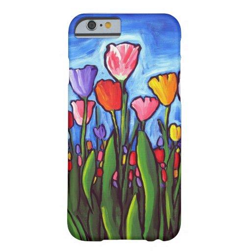 Cas de l'iPhone 6 d'art populaire de tulipes Coque iPhone 6 Barely There