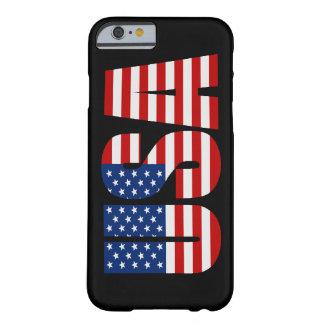 Cas de l'iPhone 6 de drapeau américain des Etats-U