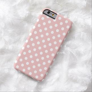 Cas de l'iPhone 6 de point de polka dans les roses Coque Barely There iPhone 6