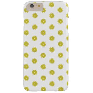 Cas de l'iphone 6 de point de polka de citron coque iPhone 6 plus barely there