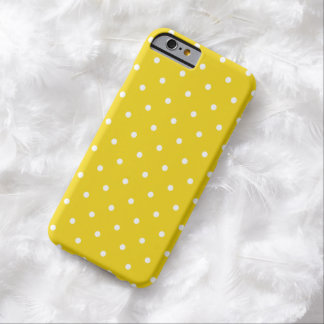 Cas de l'iPhone 6 de point de polka de citron de Coque iPhone 6 Barely There